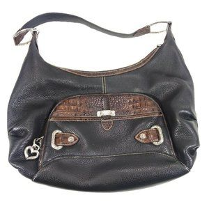 COPY - BRIGHTON Black & Brown Leather Bag Purse S…
